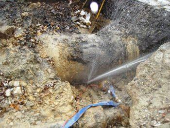 Fuite d'eau après compteur